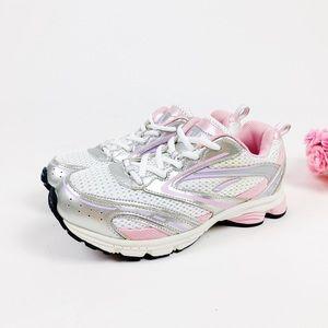 💖 SOLD 💖 LA Gear Silver & Pink Sneakers
